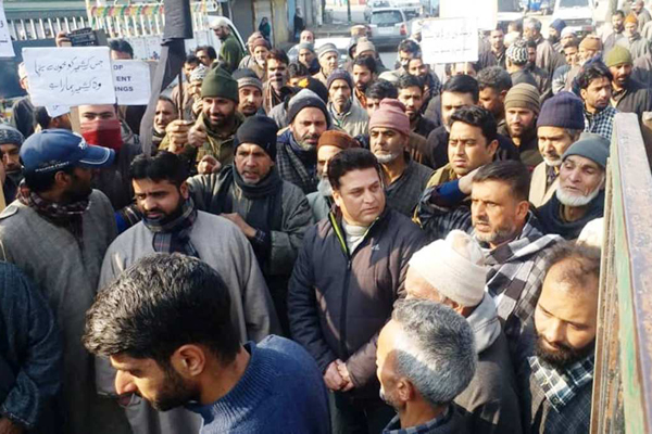 NC protests in Srinagar against Pulwama killings