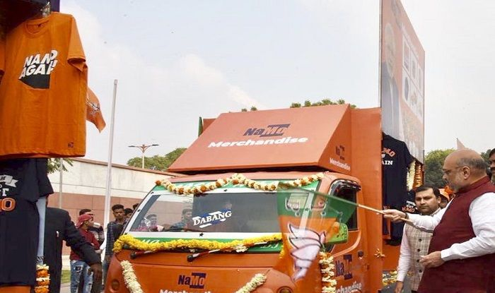 NaMo Rath at Prime Ministers rally pulls crowds