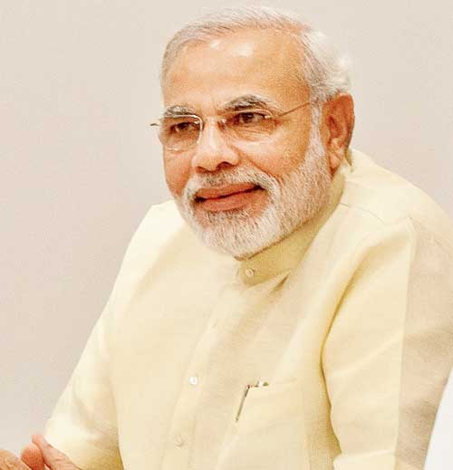 Prime Minister Narendra Modi greets people on occasion of Eid