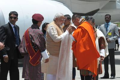 Modi arrives in Bhutan on first foreign visit as Prime Minister