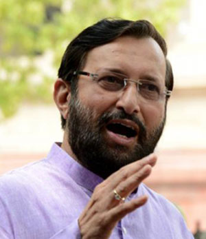 Taking serious note of channels blackout in Telangana: Javadekar