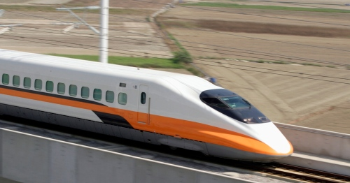 High speed rail shown red flag; semi-high speed given green