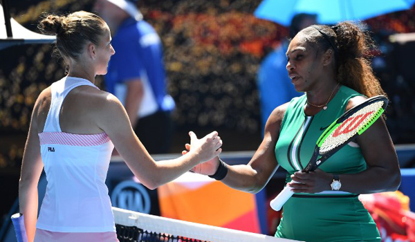 Pliskova stuns Williams to advance to Australian Open semis