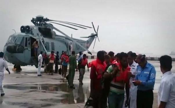 Navy rescues 19 from drifting vessel