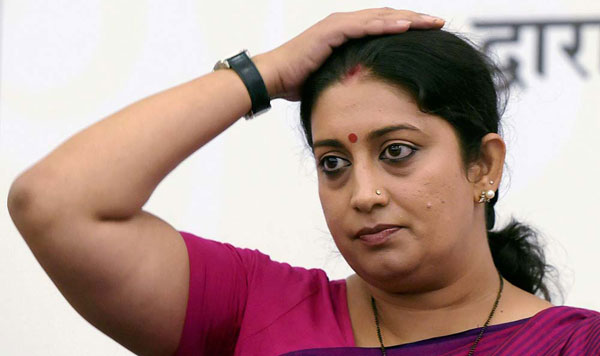 Smriti Irani spots CCTV directed at changing room