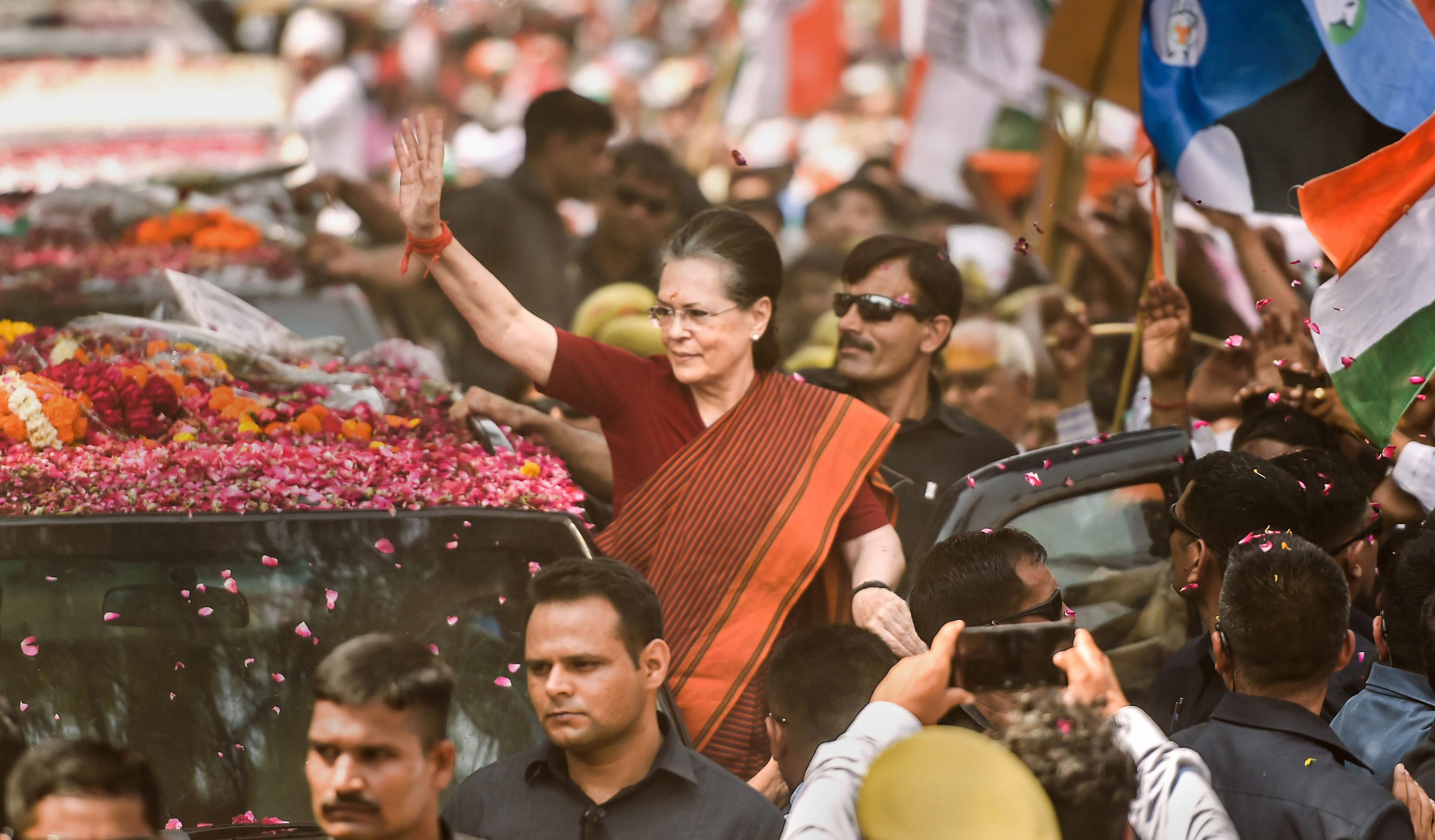 Sonia Gandhi files nomination, aims for fifth win from Rae Bareli