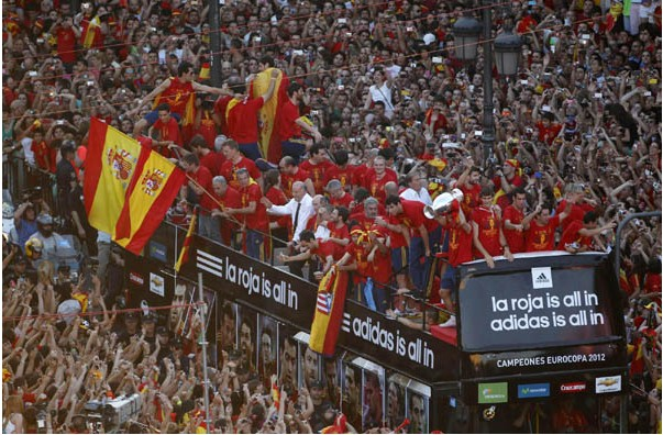Spain celebrates soccer triumph