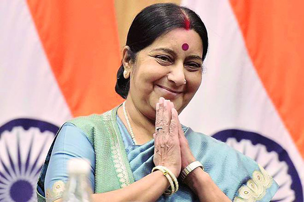 Sushma hits out at Priyanka over Duryodhana jibe