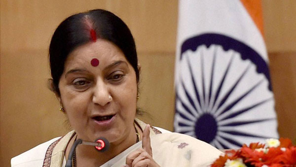 Sushma draws flak over demand to make Gita national scripture