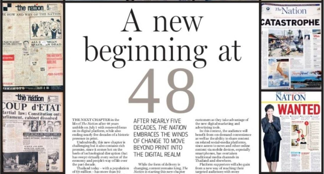 Thai English newspaper ends print edition after 48 years