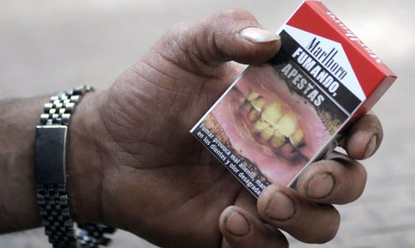 Tobacco packets to devote 85 percent space to warnings