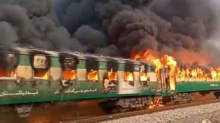 Pak train fire: Death toll reaches 65