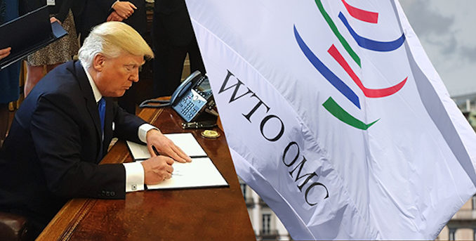 Trump threatens to pull US out of WTO