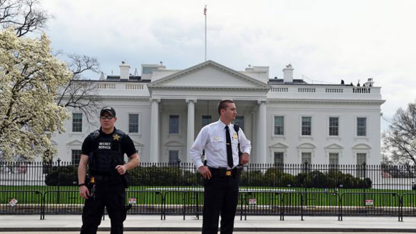 Man brandishing gun outside White House shot down