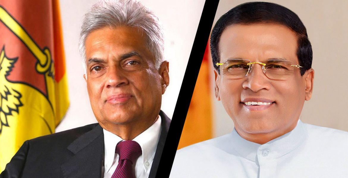 Lanka PM Wickremesinghe, President Sirisena at loggerheads over war crime probes