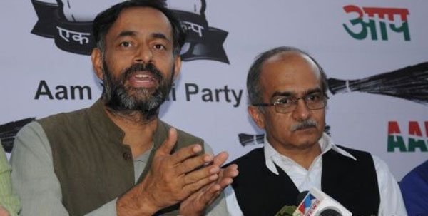 Yogendra, Bhushan may face action in AAPs national executive