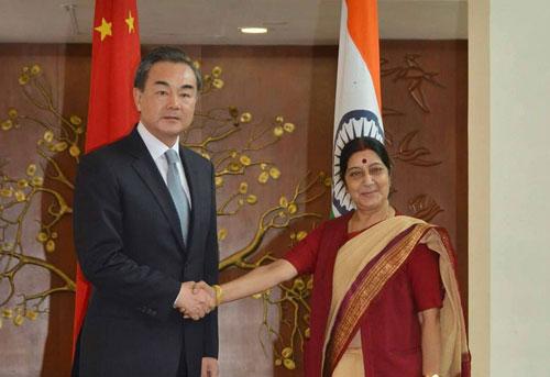 Chinese FM holds talks with Swaraj
