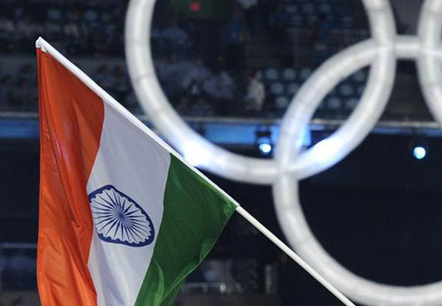 Indias flag unfurled at Sochi Olympic village