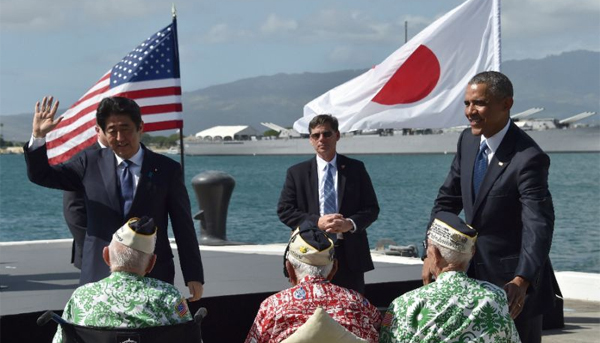 Obama, Abe hail reconciliation in Pearl Harbor visit