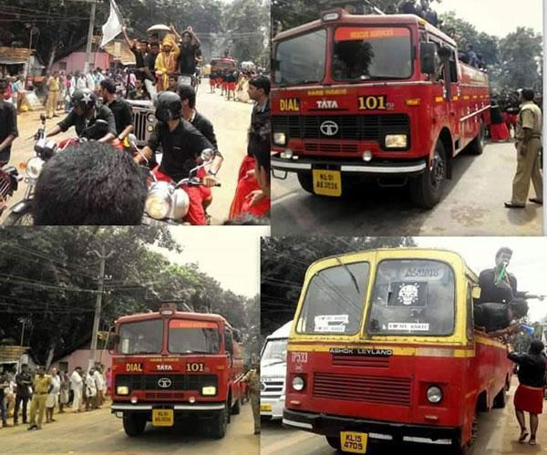Fire engine for Onam celebrations: Six officials suspended