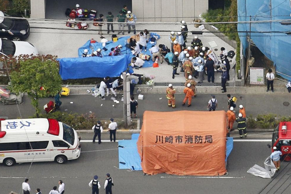 3 killed in Japan mass stabbing