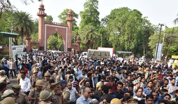 Police drop sedition charges against 14 AMU students