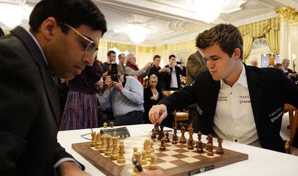Anand-Carlsen end fifth game in a draw