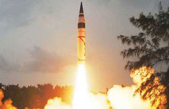Canister launch of n-capable Agni-V missile successful