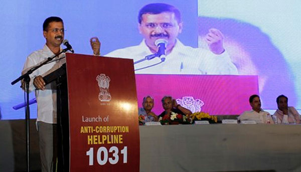 Kejriwal relaunches anti-graft helpline, vows corruption-free Delhi