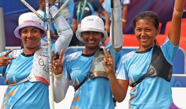Indian womens archery team go down in Olympic quarters