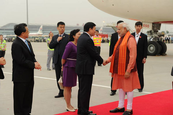 Modi arrives in China