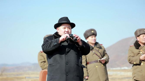 Pyongyang test-fires new guided rockets