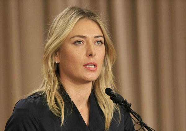 Sharapova not in French Open womens entry List