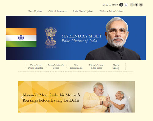 PMO website relaunched with Modi's message, pictures