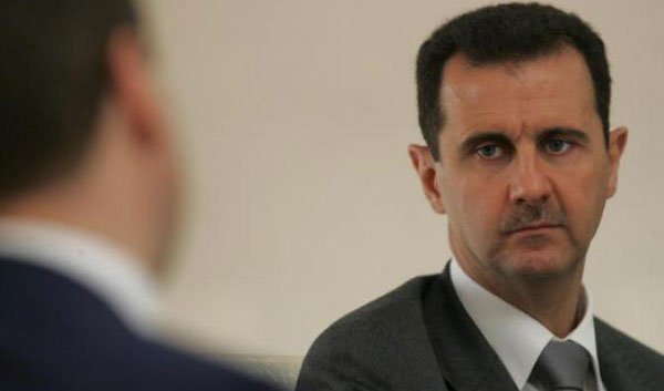Ready for cease-fire, says Syrian president