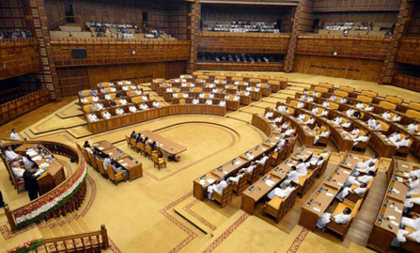 Assembly session starts on stormy note amid LDF protest