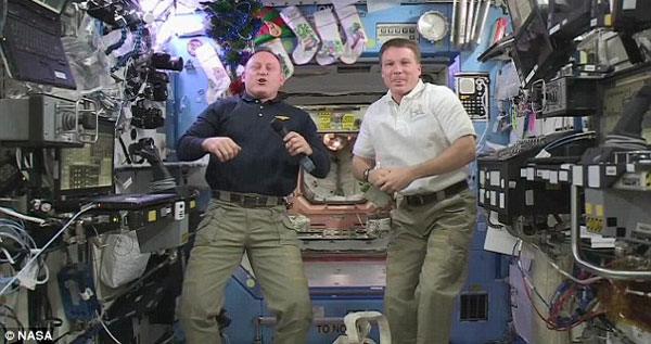 ISS astronauts celebrate New Years eve 16 times