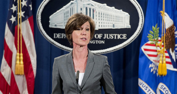 Trump fires acting Attorney General for opposing travel ban