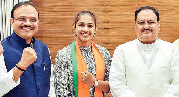 Wrestler Babita Phogats resignation from Haryana Police accepted, likely to contest state polls