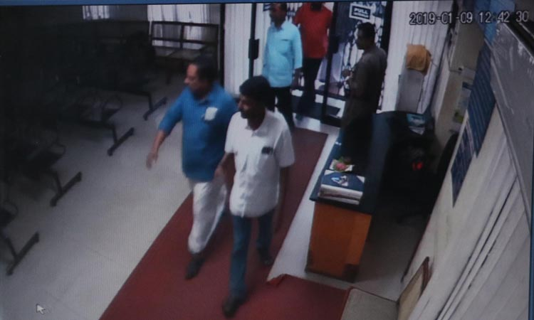 Two government employees arrested for SBI attack