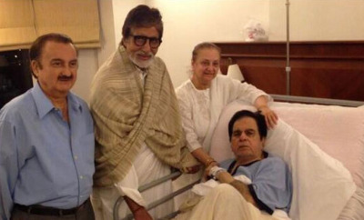Big B meets Dilip Kumar in hospital