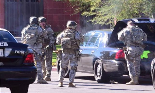 Two Southern California shooting suspects dead, explosive found