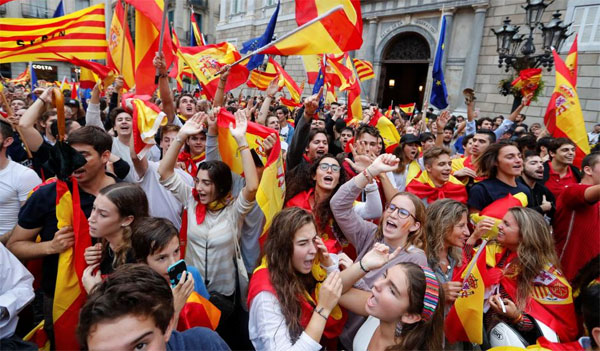 Catalonia independence declaration from Spain on hold