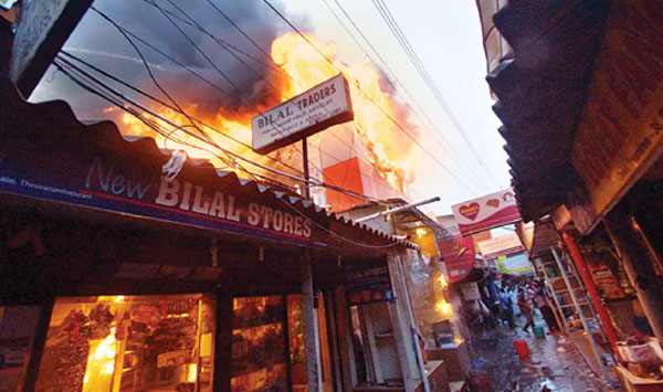Shop owner collapses and dies on seeing his shop going up in flame