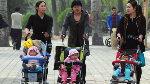 China to advocate one couple, two children policy