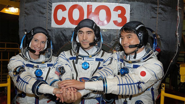 Three new crew members join ISS astronauts