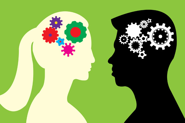 What causes behavioural differences in males, females