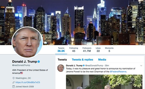 Twitter employee briefly shuts down Trumps account