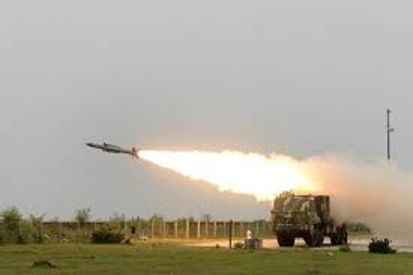Akash surface-to-air missile successfully test fired