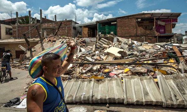 Death toll in Ecuador quake rises to 413